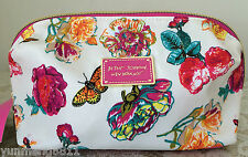 NWT Betsey Johnson E/W cosmetic bag purse white pink red yellow $42