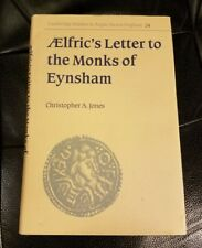 AElfric's Letter to the Monks of Eynsham Christopher Jones SIGNED BY AUTHOR