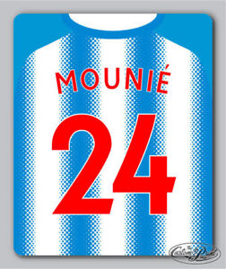 HUDDERSFIELD style MOUSE MAT ~ PERSONALISED ~ ANY NAME & NUMBER ~ football gift