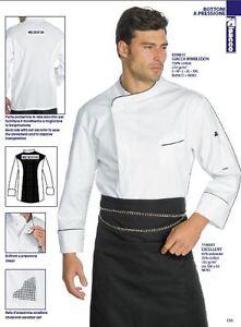 Chef Jacket Chef ISACCO Wimbledon 100% Cotton White Jacket Kochjacke Куртка