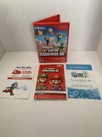 New Super Mario Bros Wii CASE & MANUAL ONLY No Game (Nintendo Wii, 2009) NO GAME
