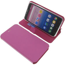 Funda para Alcatel Pixi 4 6.0 3g Book Style Protectora de móvil LIBRO fucsia