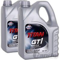 [5,61€/L] 2x4L FUCHS MOTORÖL TITAN GT1 PRO C-3 5W30 LONGLIFE VW 504.00 507.00
