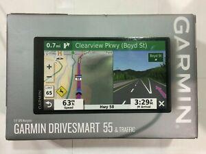 "Garmin GPS DriveSmart 55 & Traffic 5.5"" Display GPS Navigator"