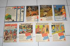 Lotto 8 Pubblicità BIG JIM Topolino anni 70 Mattel Advertising