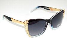 OCCHIALI da sole neri oro dorati donna lenti ovali sunglasses темные очки F15