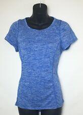Avia Women's Short Sleeve Blue & White Heather Athletic Shirt! Crew Neck. Size S