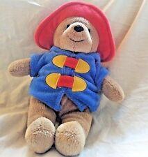 "My First Paddington Bear Plush Animal 2008 Rainbow Design 9"" Blue Coat Red Hat"