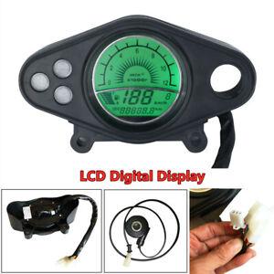 12V Motorcycle 12000RPM LCD Digital Odometer Speedometer Tachometer Dual-process