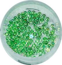 Halbperlen 1.2mm  ca. 50 Stk. Pearl Glitzer Pearl Nail Art Grün #00572-09