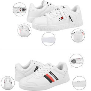 Tommy Hilfiger Low-Top Sneaker Freizeitschuhe Schuhe Herren Damen EU36-44 weiß