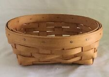 """Longaberger 2001 Small Catch All Basket 7"""" Dia x 2"""" H Handwoven"""