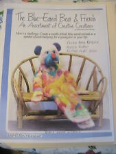 BLUE-EARED BEAR & FRIENDS~BARB KEELING FELTED BEAR~PUPPET~FLAT DOLL patterns