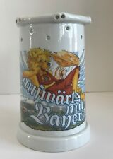 Lithophane Nude Woman White German Puzzle Beer Stein by Dr. Merkle Ateller