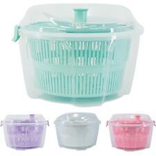 More details for large salad spinner vegetable veg leaf dryer drainer colander plastic bowl