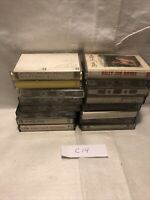 Vintage Lot Of 16 Cassette Tapes Tape Lot Rock Pop Country R&B