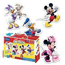 Trefl 2/3/4/5 Stück Baby Kinder Kleinkind Unisex Micky Maus 4 Form Puzzle