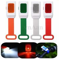 Bike Mountain Bicycle Cycling Head Front Rear Tail LED Flashing Frog Light Lamp