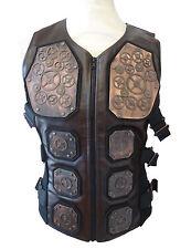 Steampunk  industrial SDL larp amour Waistcoat copper metal cogs size L chest 44