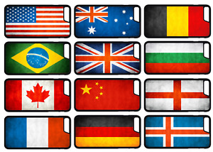 WORLD FLAGS Grunge Phone Case Cover iPhone 4 5 SE 6 7 8 Plus X Comp (A)