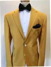 Mustard yellow Tellagna 1900 wool suit with notch lapel/ticket pocket-made in It