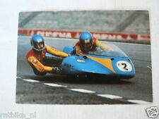 SIDECAR RACING NO 2 BOERI BOSCH VINTAGE ORIGINAL POSTCARD NOT 100 % OK