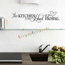 Autocollants Sticker Phrase Mural Muraux Art Décoration de Cuisine Salle Decal