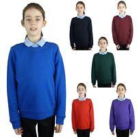 EX M&S Marks And Spencer Kids Childrens School Uniform V Neck Jumper Sweatshirt