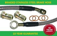 Motorcycle Braided stainless steel Brake Hose 145 cm long