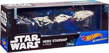 Hot Wheels Star Wars Hero Starship 4-Pack Die-Cast Starships - New