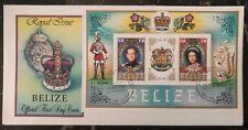 1984 Belize First Day Souvenir Sheet Cover Queen Elizabeth II FDC MXE