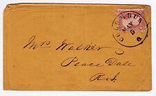 "#26A-3 Cents 1857, 56R10e, Relief F guide dot ""COLUMBUS MAY 5 O.""-Peace Dale RI"