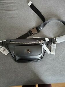 NWT Coach Leather Fanny Belt Pack Sling Black Msrp:$350