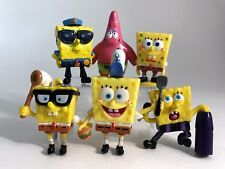 SpongeBob SquarePants 6 Mini Figures Patrick Fry Cook PVC Cake Toppers Lot