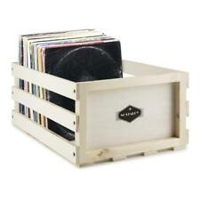 Auna Nostalgie Rangement pour Vinyles en Bois 75 LPs - Crème (10030850)