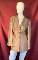 TRAVIS AYERS WOMENS SZ 8 Champagne SILK Paisley SEQUINED COCKTAIL PARTY BLAZER