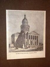 Veduta di Parigi nel 1884 Chiesa di Santa Genoveffa o Pantheon Francia