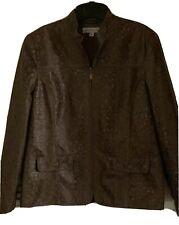 Samantha Grey Women's Brown & Gold Full Zip Jacket Size 14
