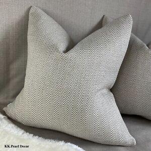 John Lewis & Partners HERRINGBONE Fabric MOLE Beautiful Cushion Cover