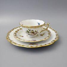 Herend Rothschild RO-DOX Mokkagedeck 3tlg Tasse Kuchen- Gebäck- Teller  (D)