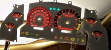 1996 1997 1998 KPH Mustang V8 GT White Face Glow Through Gauges Red