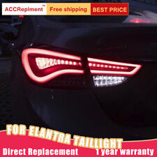 All LED Rear Light Assembly For Hyundai Elantra 11-16 Dark / Red LED Tail Lamps