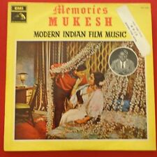 Memories Mukesh Modern Indian Film Music LP Ex/Vg+ 3AEX 5230