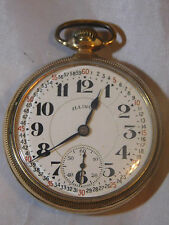 ANTIQUE ILLINOIS BUNN SPECIAL 21 JEWELS G.F. RAILROAD POCKET WATCH