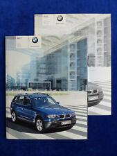 BMW X3 2.5i 3.0i 3.0d Typ E83 - Prospekt Brochure + Preisliste 03.2004