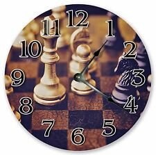 "10.5"" VINTAGE CHESS BOARD GAME CLOCK Large 10.5"" Wall Clock - Home Décor - 3177"