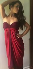 BCBG MAX AZRIA Goddess Tulip Dress Garnet Red M