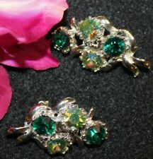 POPULAR SIGNED B.S.K. CLIP ON EARRINGS EXCELLENT LOOK
