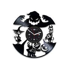 Nightmare Before Christmas Vinyl Record Wall Art Clock Unique Design Xmas Gift