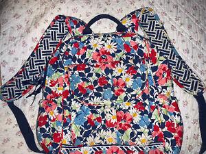 VERA BRADLEY * Summer Cottage * Backpack * Laptop Bag * Retired 2012 * Pockets